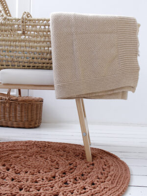 Styling wool blanket ocher small