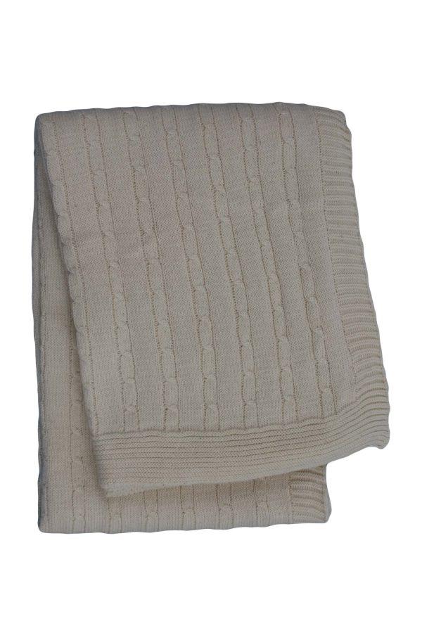gebreid katoenen dekentje twist small linnen medium