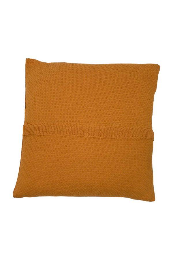 gebreide katoenen kussensloop liz oranje medium