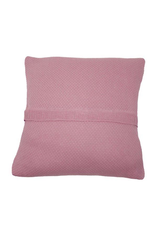 gebreide katoenen kussensloop liz oud roze medium