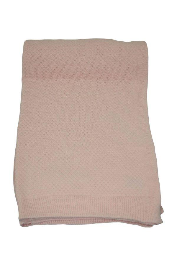 gebreide katoenen plaid liz baby roze medium