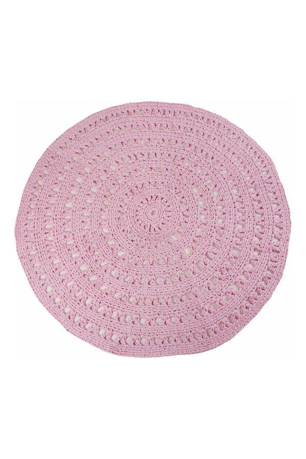 gehaakt katoenen kleed arab bubblegum roze large