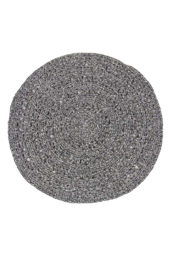 gehaakt katoenen kleed arab graniet grijs medium