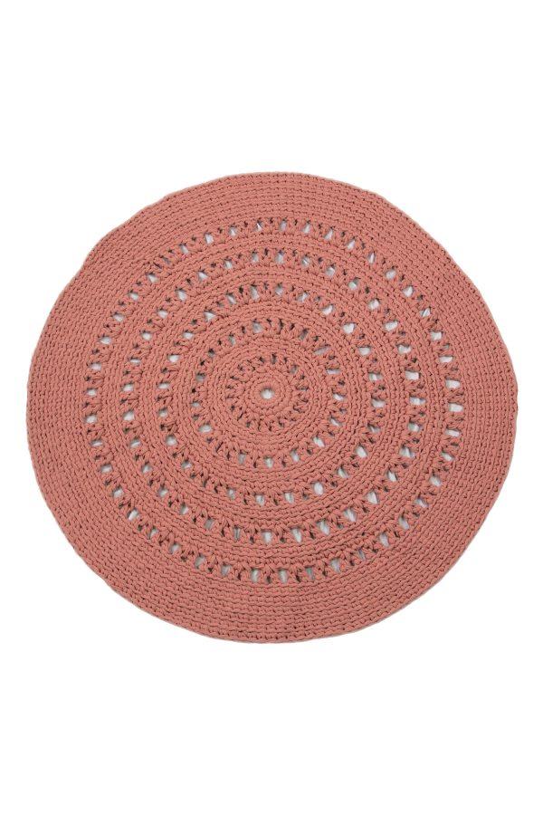 gehaakt katoenen kleed arab marsala roze large