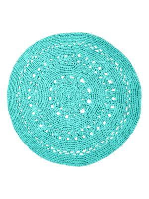 gehaakt katoenen kleed flor turquoise large