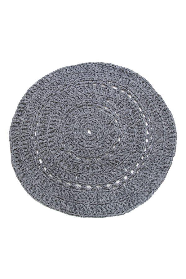 gehaakt katoenen kleed peony graniet grijs medium