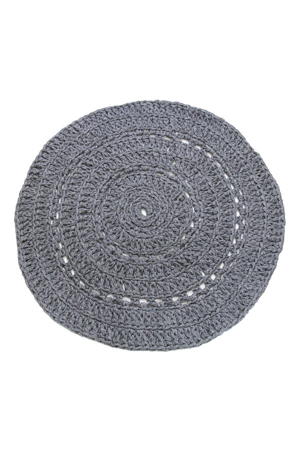 gehaakt katoenen kleed peony graniet grijs xlarge