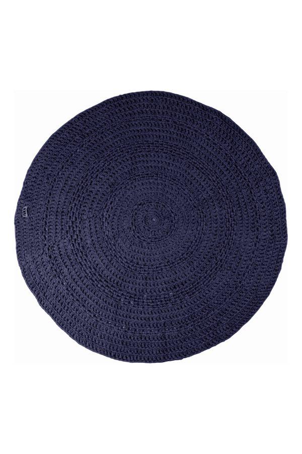 gehaakt katoenen kleed peony navy blauw medium