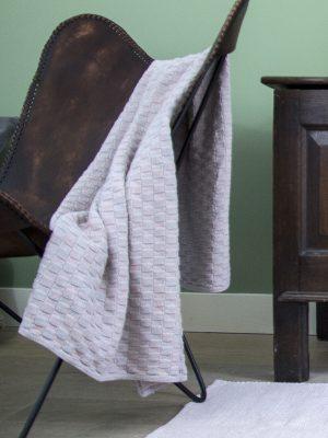 styling foto gebreide katoenen deken drops melee poeder roze large