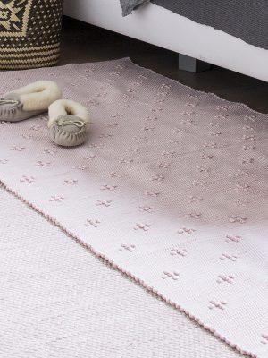 styling foto geweven katoenen kleed liz roze