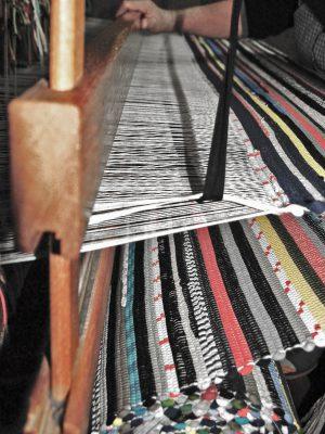 styling foto geweven katoenen kleed stripy mixmatch