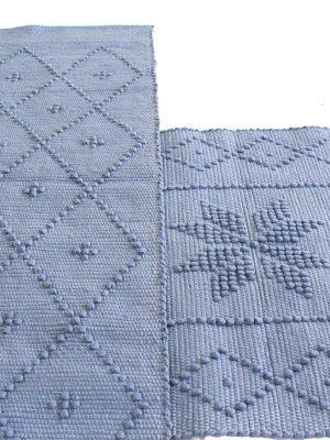styling foto geweven katoenen kleedje diamond jeans blauw