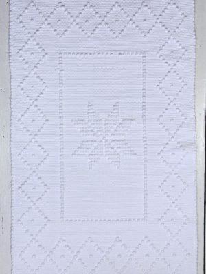 styling foto geweven katoenen kleedje star wit