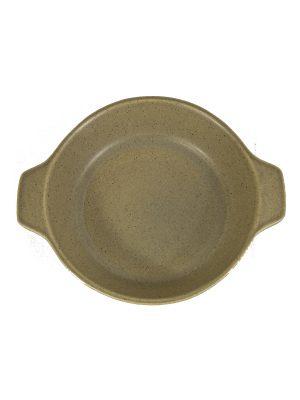glaze ceramic aardewerk oven bord mosterd small