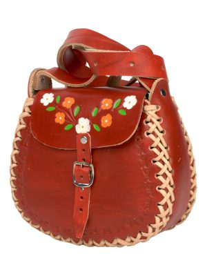 leren tas basic chillipepper small