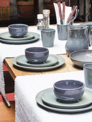 styling foto glaze ceramic aardewerk kom celadon medium