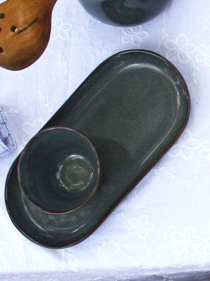 styling foto glaze ceramic aardewerk ovaal amuse schaal celadon medium