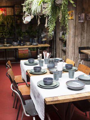 styling foto glaze ceramic aardewerk salade kom celadon large
