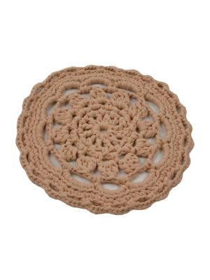 gehaakte katoenen placemat rosetta klei small