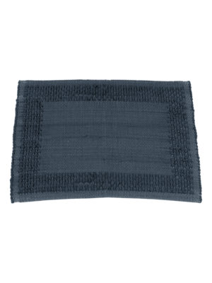 geweven katoenen placemat frame indigo small