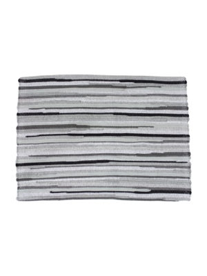 geweven katoenen placemat stripy grijs small