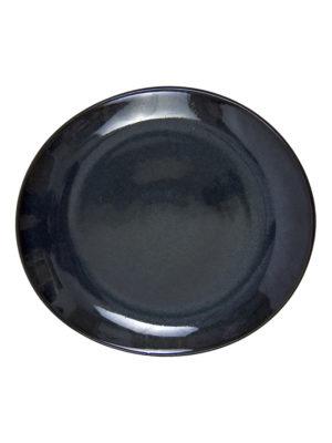 glaze ceramic aardewerk ovaal dessert bord ink small