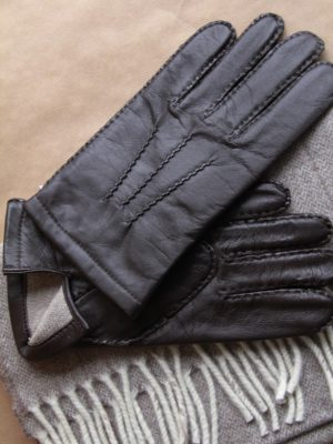 stylingleren handschoenen choco