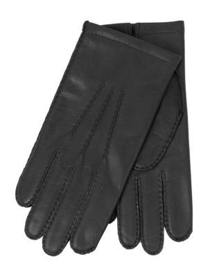 leren handschoenen (mannen) classic zwart medium