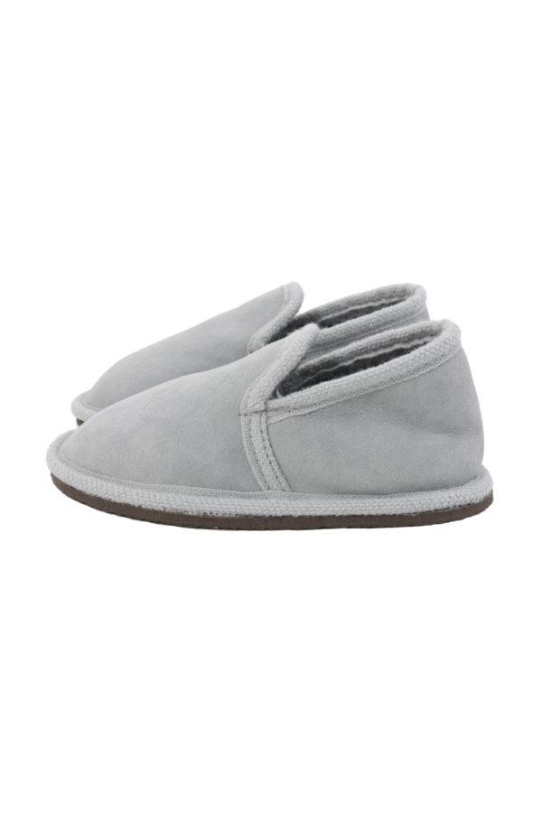 suede pantoffel van schapenbont urban grijs small