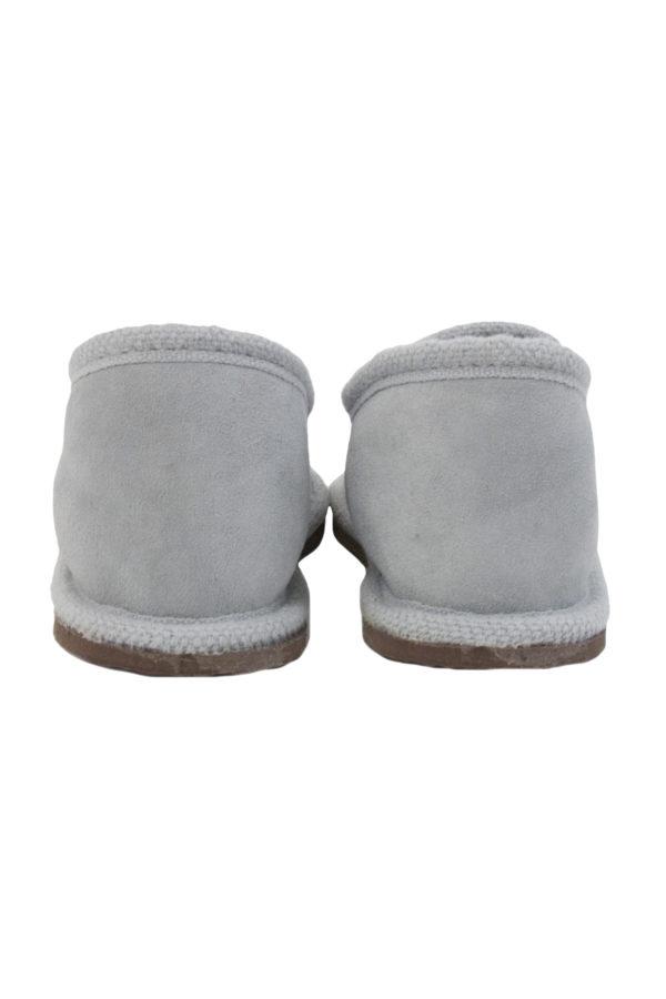 suede pantoffel van schapenbont urban grijs xlarge