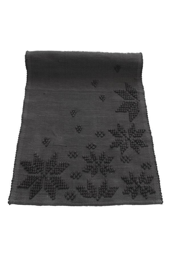 geweven katoenen kleedje snowflakes antraciet small