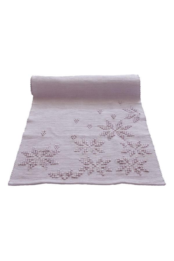 geweven katoenen kleedje snowflakes poeder roze small