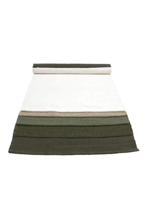 geweven katoenen tafelloper shadow olijf groen medium