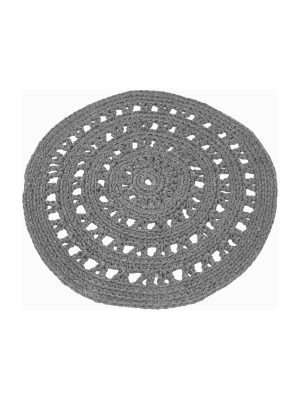 arab grey crochet cotton rug medium