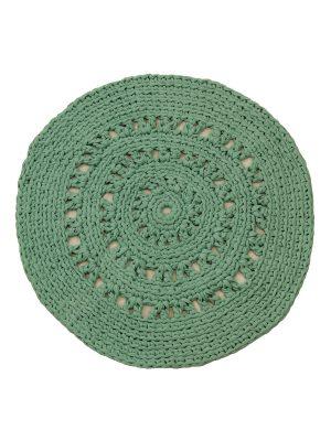arab jade crochet cotton rug medium