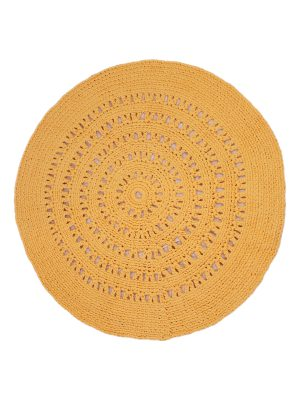 arab papaya crochet cotton rug medium
