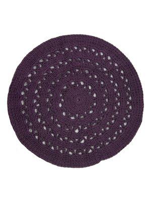 arab purple crochet cotton rug medium