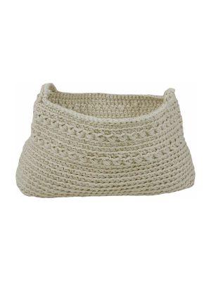 basic ecru crochet cotton basket xxlarge