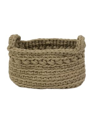 basic latte crochet cotton basket xsmall