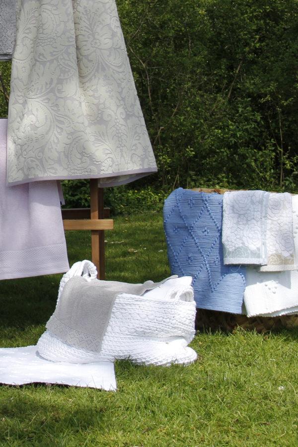 basic white crochet cotton basket