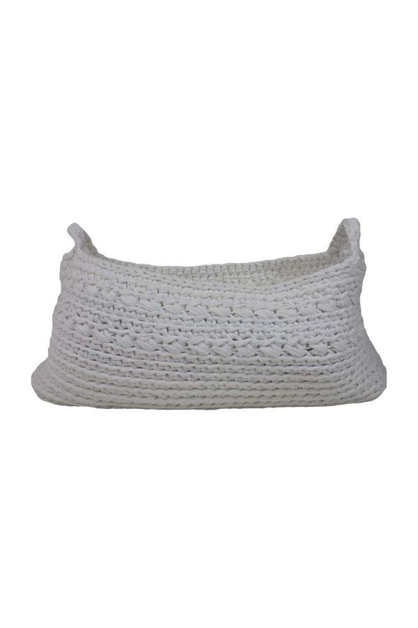 basic white crochet cotton basket xxlarge