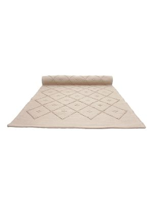 diamond clay woven cotton rug medium