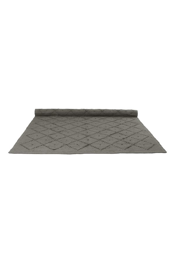 diamond grey woven cotton rug xlarge