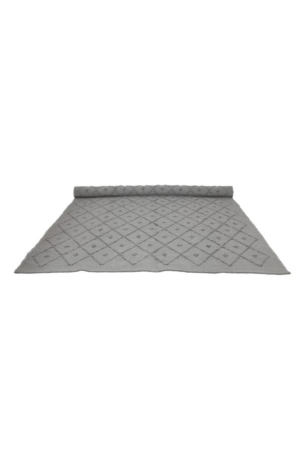 diamond light grey woven cotton rug xlarge