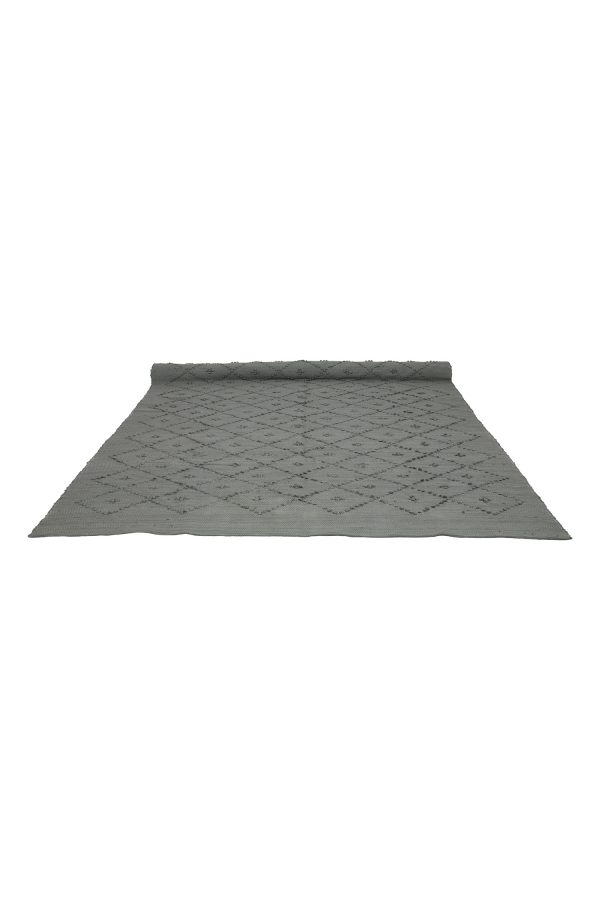 diamond shark grey woven cotton rug xlarge