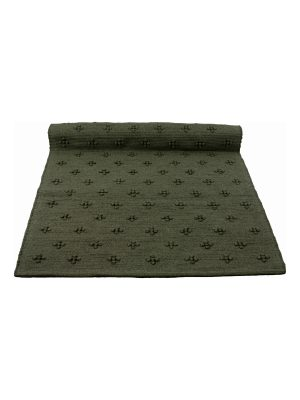 liz olive green woven cotton rug medium