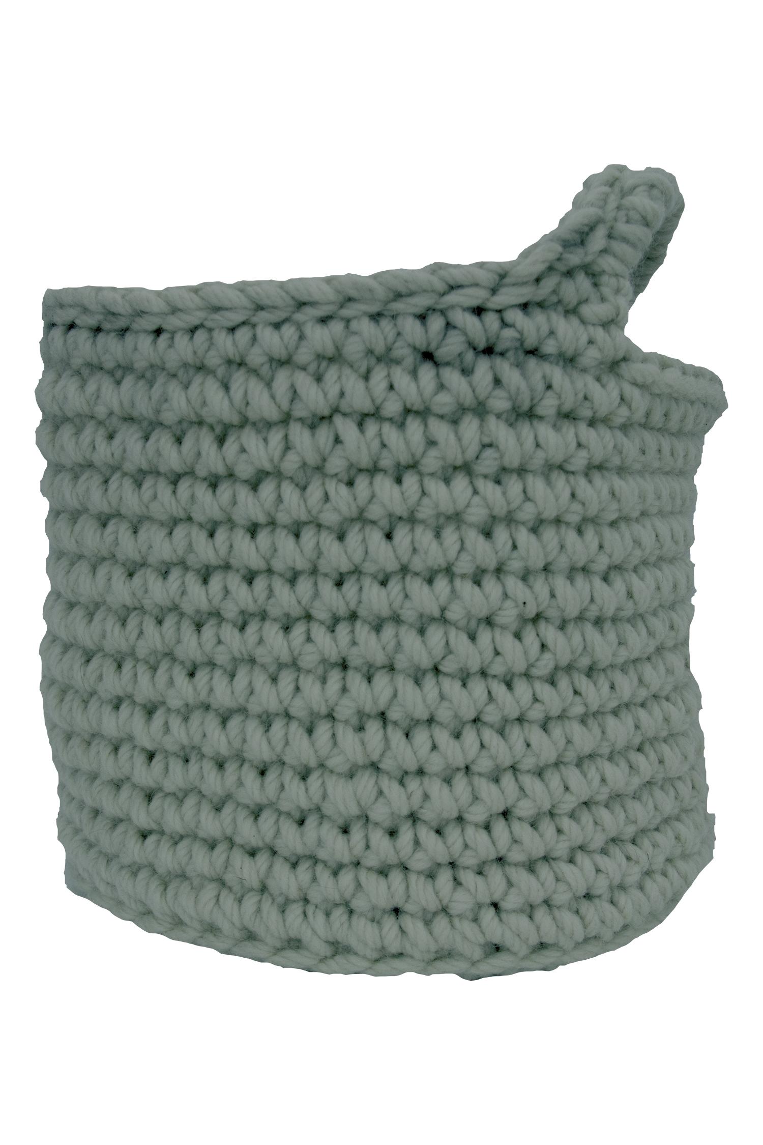 3ace6385494 nordic sage crochet woolen basket – naco.shop