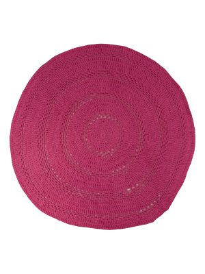 peony fuchsia crochet cotton rug medium
