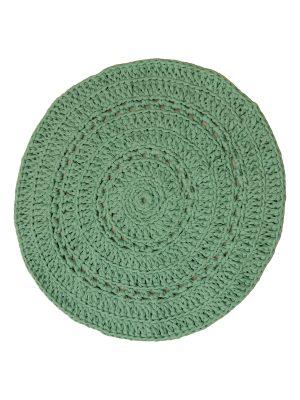peony jade crochet cotton rug medium