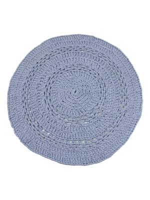 peony jeans blue crochet cotton rug medium
